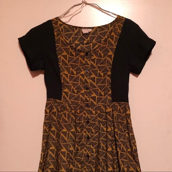 ModCloth Pattern Shirt Dress